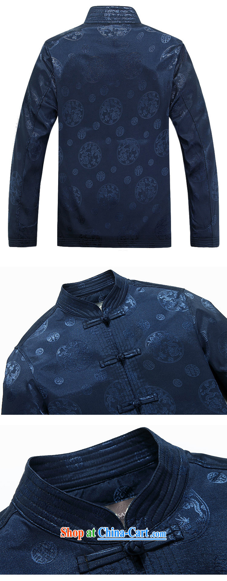 The stakeholders in the Cloud old men long-sleeved Tang jackets of ethnic-Chinese, for the dragon DY 9025 blue L pictures, price, brand platters! Elections are good character, the national distribution, so why buy now enjoy more preferential! Health