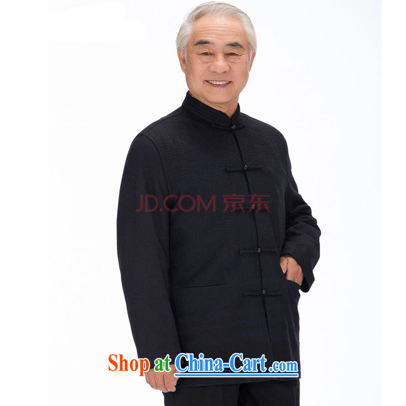 Stakeholders line cloud high-pressure take men's Chinese Chinese long-sleeved wool jacket older hair that winter, Thicken the collar DYD - 14,012 blue L stakeholders, the cloud (YouThinking), and, on-line shopping