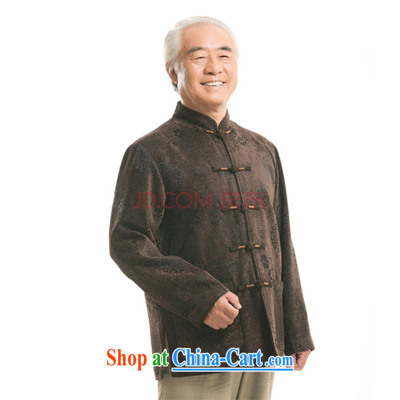 Stakeholders line cloud China wind men's round-hi jacket older leisure Chinese men's long-sleeved T-shirt DY 9823 brown M stakeholders, the cloud (YouThinking), and, on-line shopping