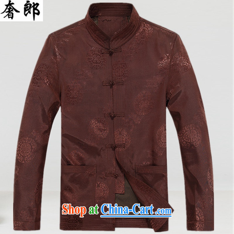 extravagance, in winter, the old Tang jackets men's cotton suit T-shirt old warm festive jacket jacket China wind up for the fat and dress and color XXXL