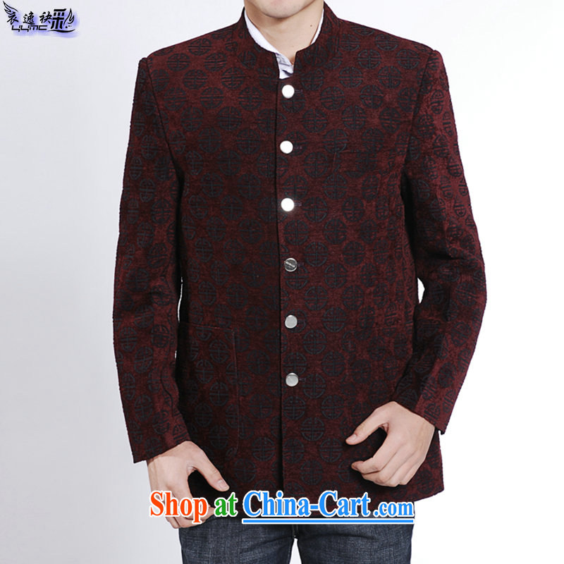 Yi Yi also instruct New Products men's suit and stylish lounge antique Chinese men and Chinese style dress, older men's clothing suit Chinese red 8028 190