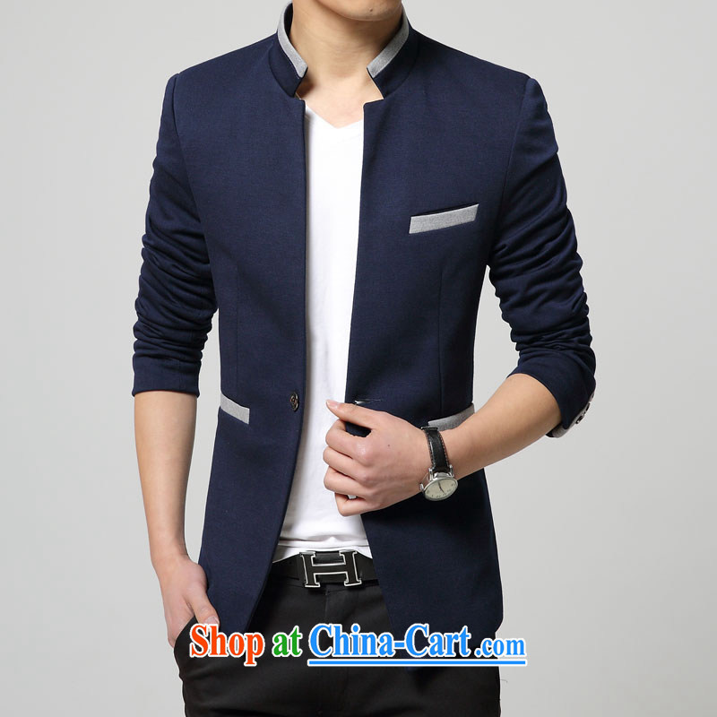 happy times men autumn smock new small suit Male Korean version, for beauty-blue 4 XL