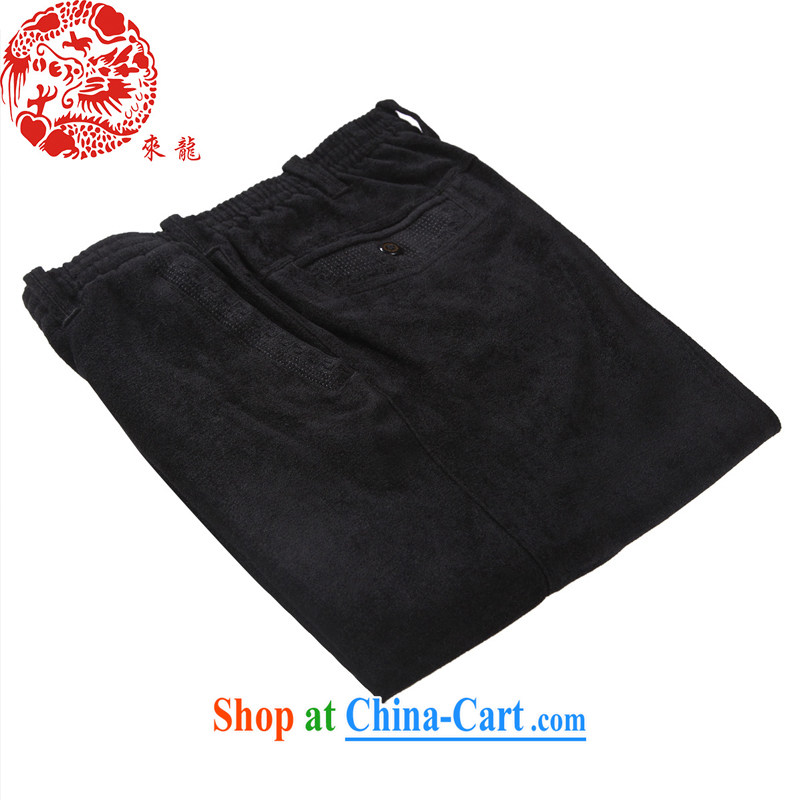 To Kowloon Tong on China wind male viscose Casual Trousers 14,571 black 48, black 52