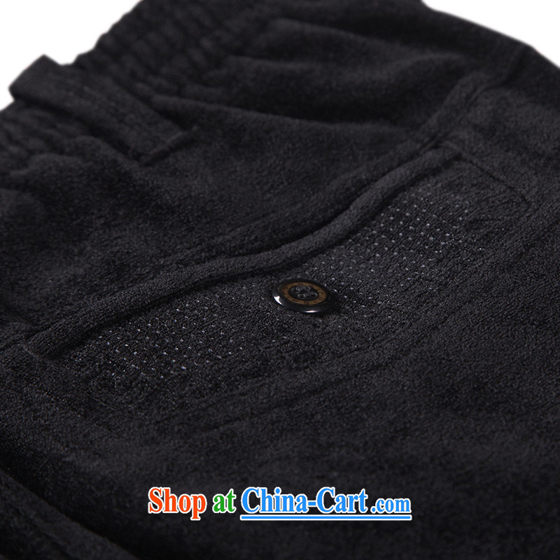 To Kowloon Tong on China wind men's viscose casual trousers 14,571 black 48, black 52, to lung, shopping on the Internet