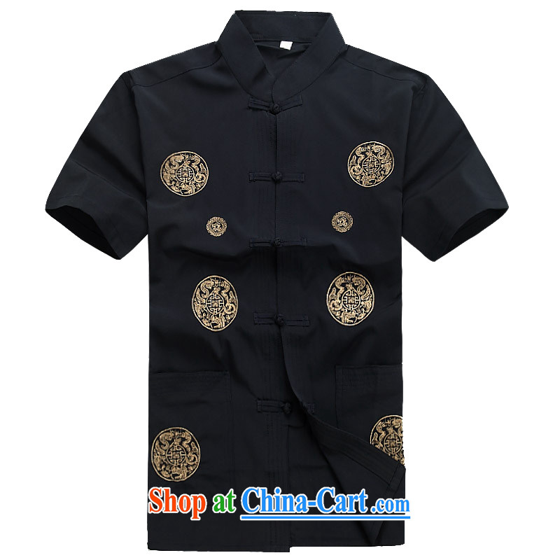Putin's European men's summer New Tang replace short-sleeve Tang replace older half sleeve Chinese men and a short-sleeved Tang package Blue Kit XXXL/190, Beijing (JOE OOH), online shopping