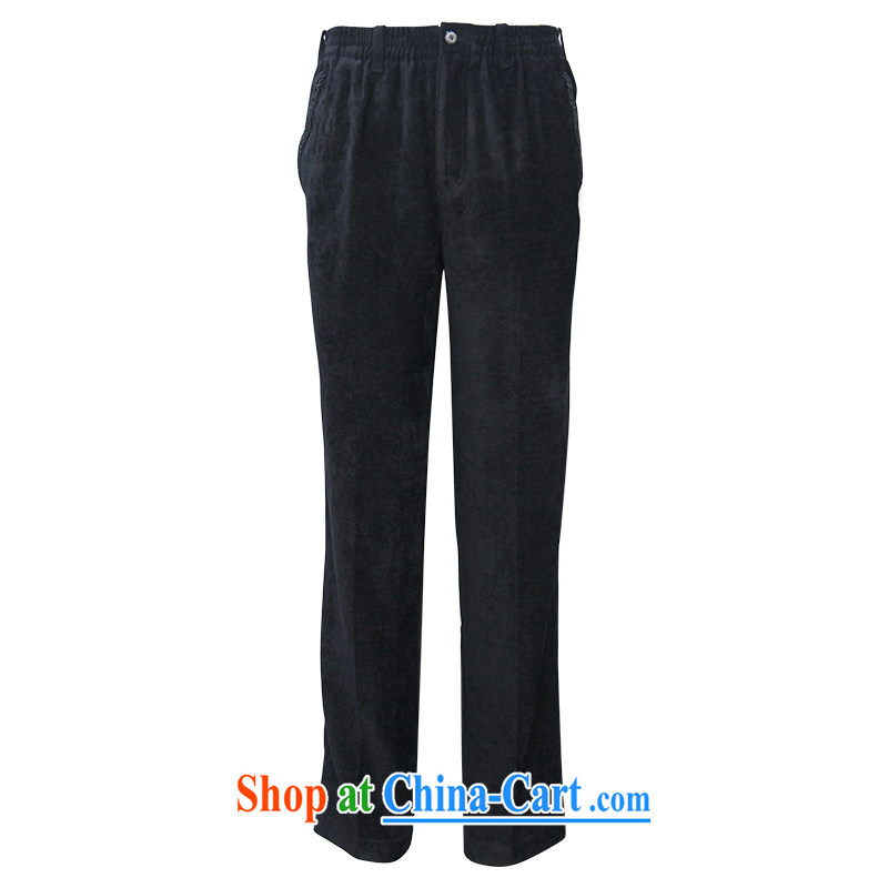 To Kowloon Tong on China wind men's viscose casual trousers 14,516 black 48, black 52, to lung, shopping on the Internet