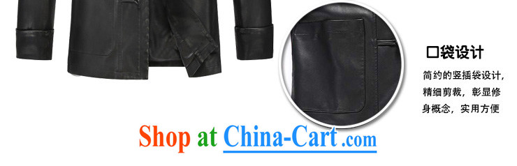 Write 2015 autumn and winter New Men Generalissimo leather jacket men's classic Chinese leather jacket casual clothing leather jacket black XXXL pictures, price, brand platters! Elections are good character, the national distribution, so why buy now enjoy more preferential! Health