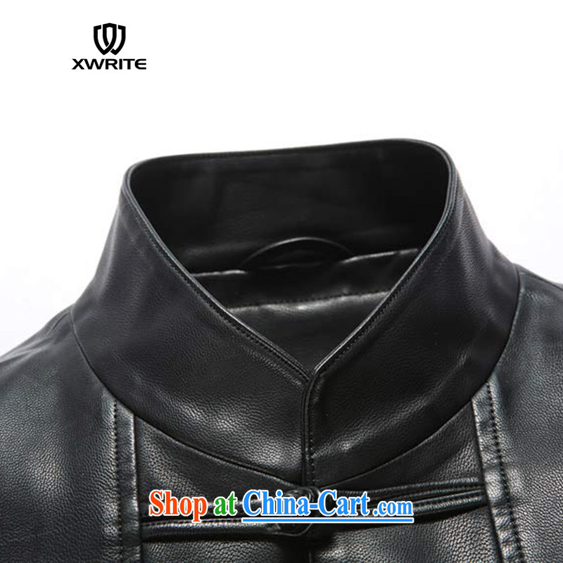 Write 2015 winter New Men Generalissimo leather jacket men's classic Chinese leather jacket casual clothing leather jacket black XXXL and continue to write (XWRITE), shopping on the Internet