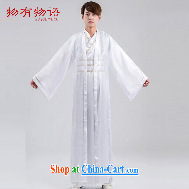 A property, new retro China wind Swordsman costumes knights errant clothing Chinese clothing, ancient knights and samurai costumes white are code