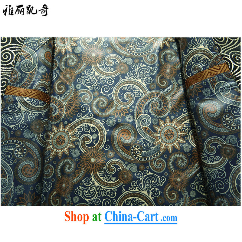 Alice, Kevin Ethnic Wind cotton clothing spring and autumn and winter clothing men's Chinese elderly in elderly men's winter grandfather Chinese jacket improved, for his birthday life gold M, Alice, Kevin, shopping on the Internet