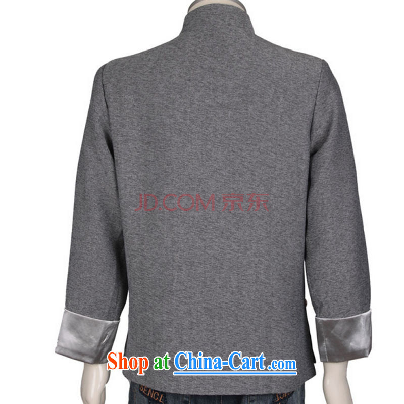 Stakeholders line cloud Chinese, in older Chinese men's linen gray jacket men and Chinese wind national costumes DY 0308 gray L stakeholders, the cloud (YouThinking), and, on-line shopping