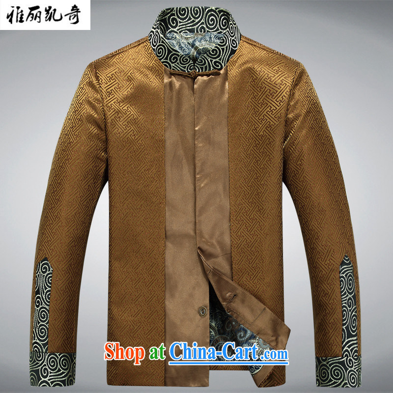 Alice Kay, new men's silk scarves Tang is a leading Chinese smock dress long-sleeved T-shirt clothing autumn and winter coat improved retro birthday life dress and Ho Kim L