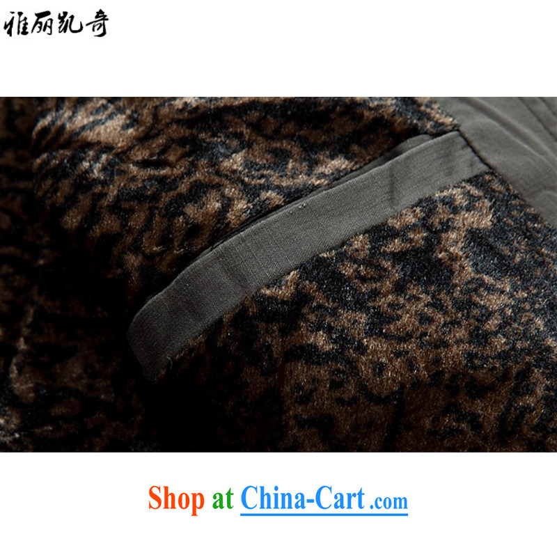 Alice, Kevin new spring men Tang jackets Chinese jacket holiday birthday gifts, older men and the Chinese wind jacket, collar embroidery cotton suit dark blue thick, XXXL, Alice, Kevin, shopping on the Internet