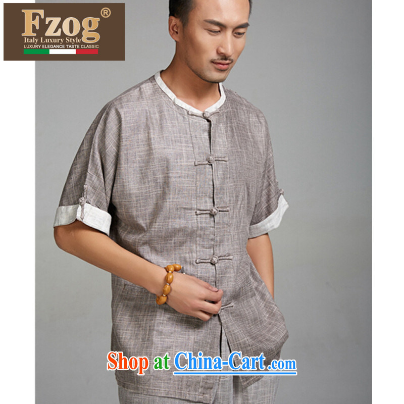FZOG 2015 New China wind summer thin elderly people in large numbers and short-sleeved Chinese leisure package card its color XXXXL