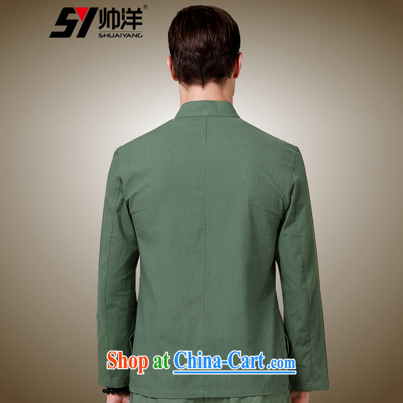 cool ocean fall 2015 new beauty, men's Chinese long-sleeved shirt China wind in national costumes of Chinese jacket black 185/XXL, cool ocean (SHUAIYANG), shopping on the Internet