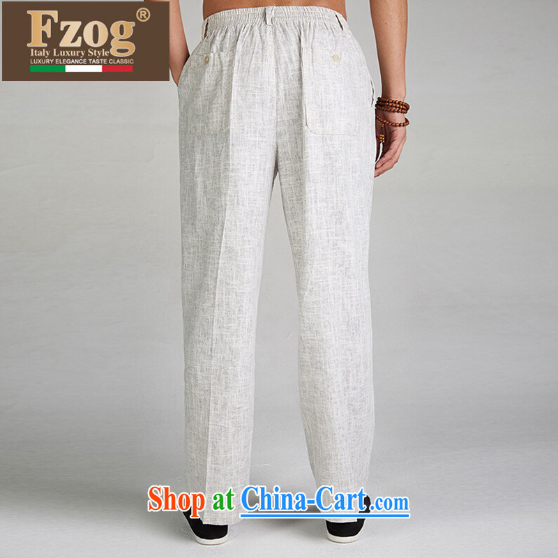 FZOG Chinese Chinese men long pants summer 2015 new genuine breathable loose the code down light gray XXXXL, FZOG, shopping on the Internet