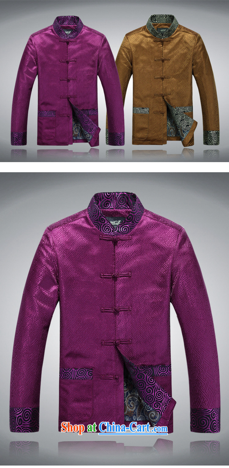 Bong-ki Paul Winter new, older Tang jackets men's thick cotton suit jacket old warm festive jacket jacket retro jacket purple L pictures, price, brand platters! Elections are good character, the national distribution, so why buy now enjoy more preferential! Health