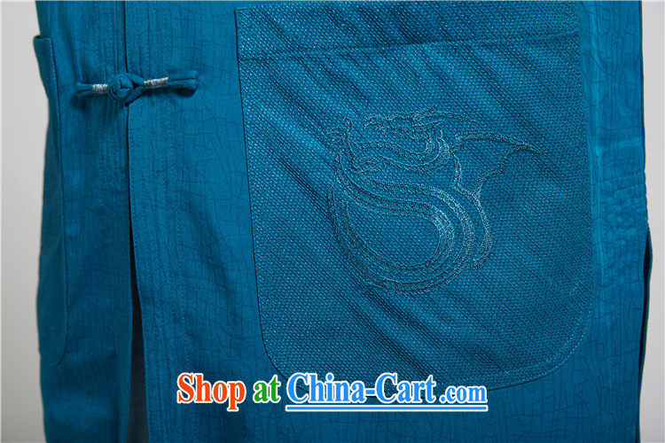 FZOG classic embroidery short-sleeved, collared T-shirt Mr Ronald ARCULLI in men's National wind Chinese-buckle Tang blue XXXL pictures, price, brand platters! Elections are good character, the national distribution, so why buy now enjoy more preferential! Health
