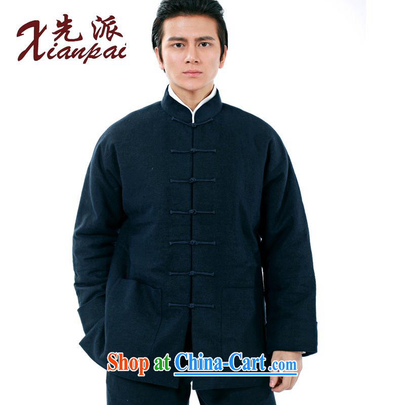 First winter New Products New Chinese traditional double-cuff Chinese men and long-sleeved Chinese wind linen quilted coat Dad older thick parka brigades