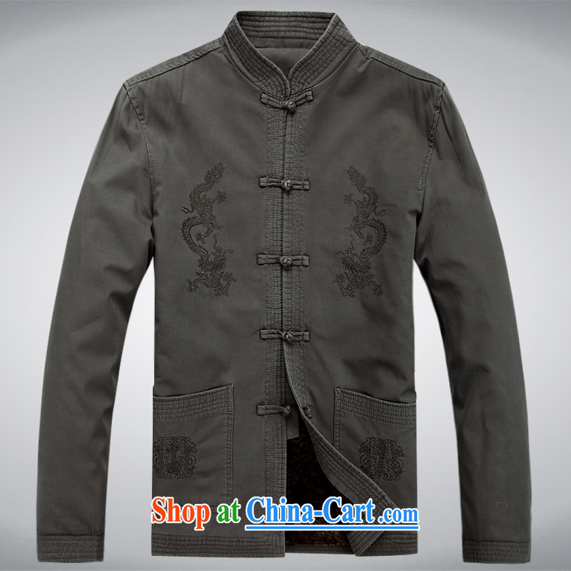 Meropia autumn and winter, male-tang on China wind long-sleeved father replace older jacket gray XXXL, MEROPIA, shopping on the Internet