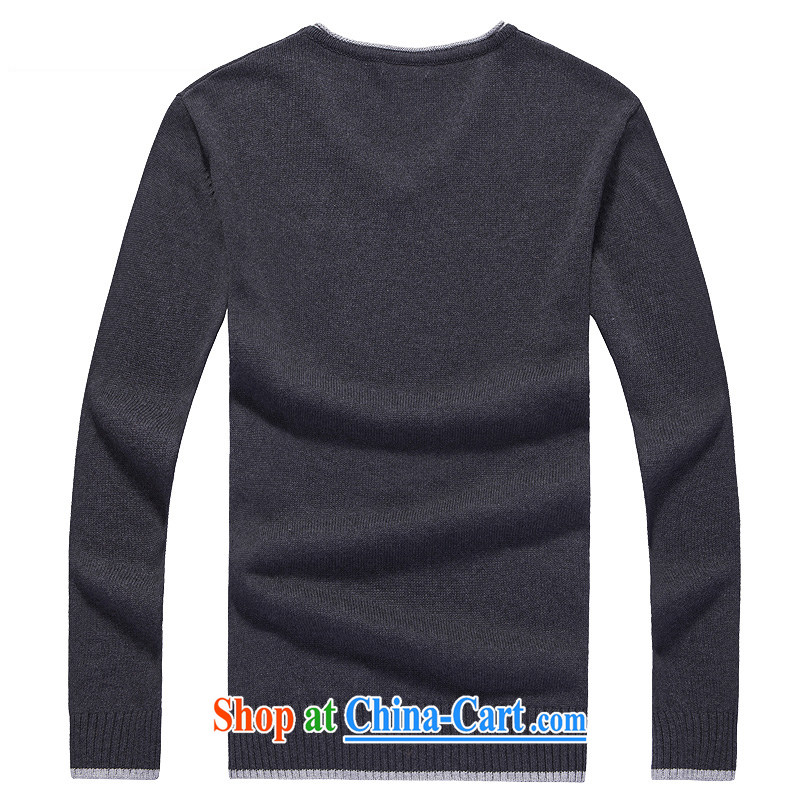 Global jeep 2015 new men's cotton solid color knitting T-shirt casual stylish long-sleeved V collar and knit-H men 12 - 2006 m White XXXL, global gypsies (HUANQIUJIPU), online shopping