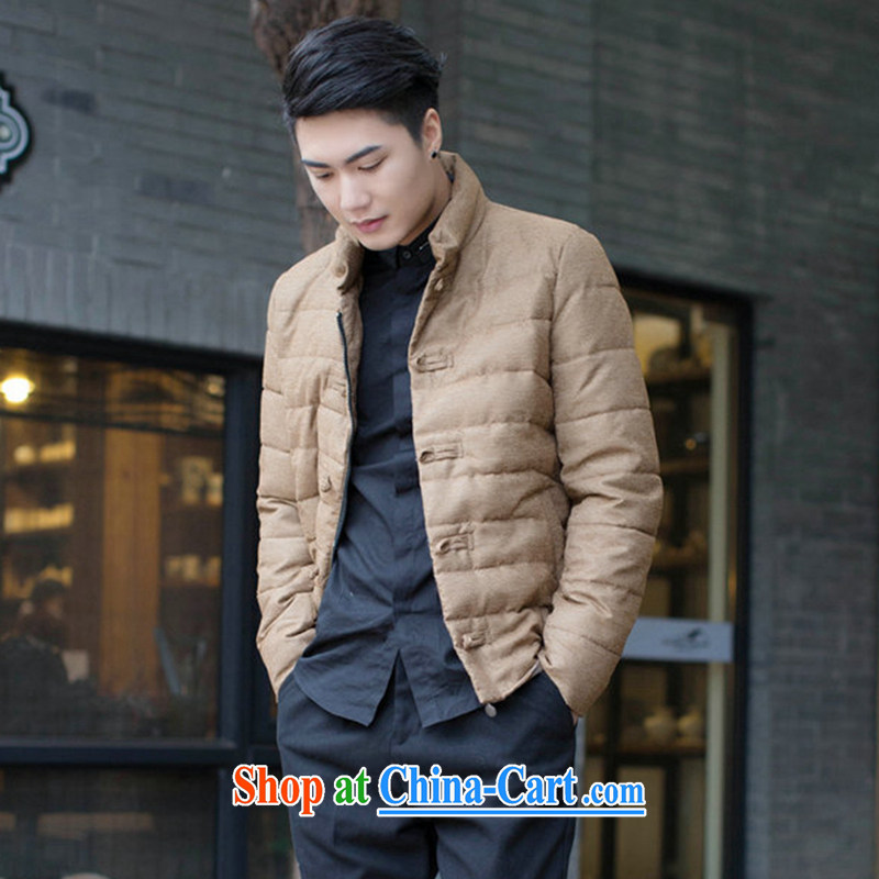 Dan smoke fall and winter New Men Tang is improved, for the charge-back men's feather cotton suit cultivating jacket folder and picture color 3XL