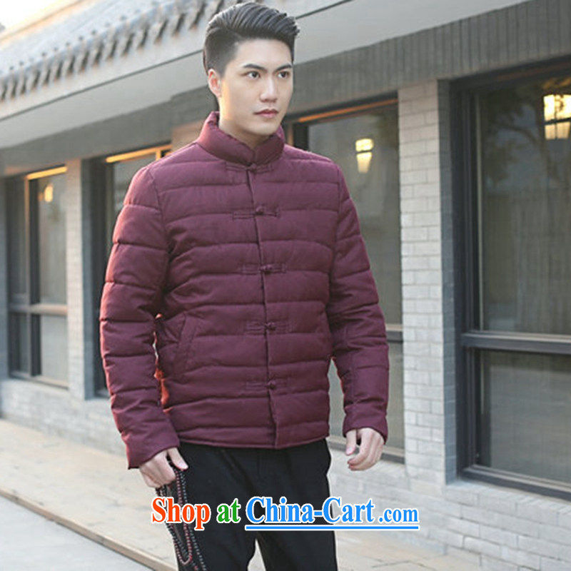 Bin Laden smoke men Tang with autumn and winter, new, for manually-tie China wind and feather cotton suit cultivating jacket folder and picture color 3XL