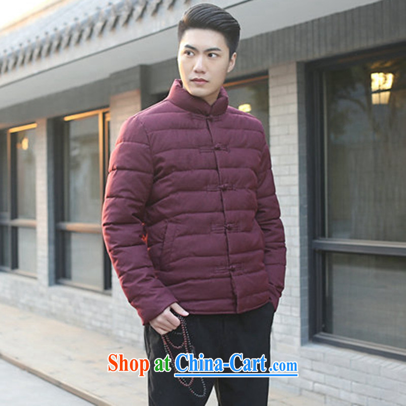 Take the male Tang with autumn and winter, new, for manually-tie China wind and feather cotton suit cultivating jacket folder and picture color 3XL
