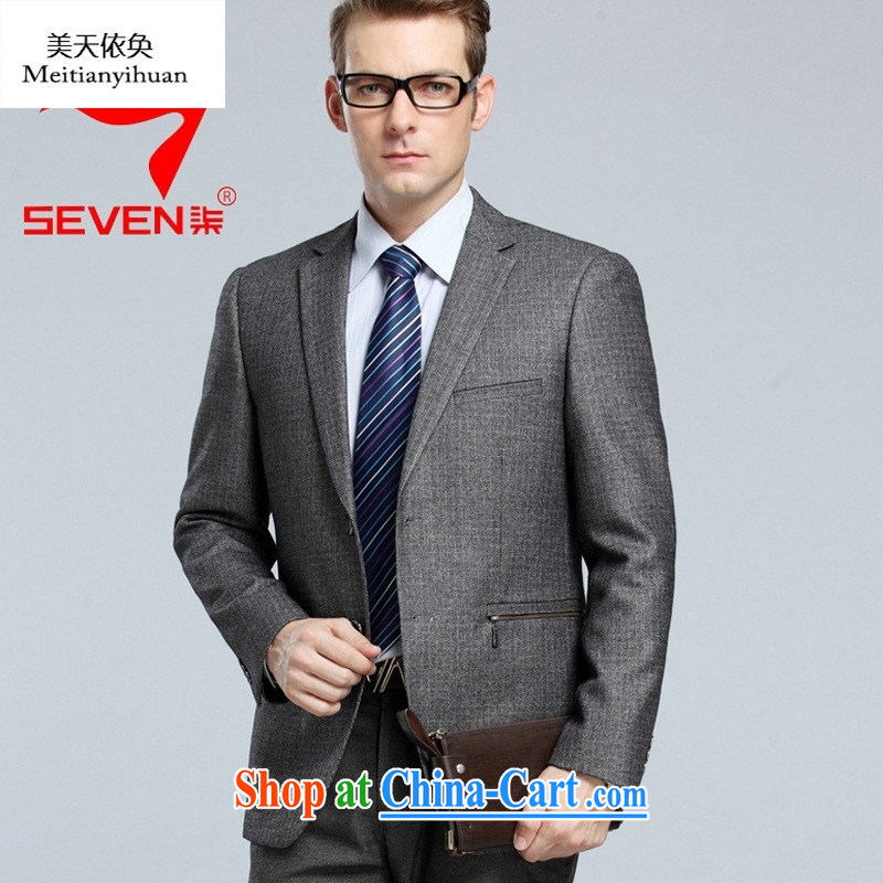2015 spring new Leisure Suit and middle-aged men's upscale men's woolen click the jacket shown in Figure 185 54