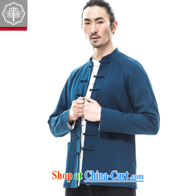 to tree fall 2015 new Chinese men's long-sleeved jacket quilted coat, served improved Tang package installed China wind Nichinan 170_M