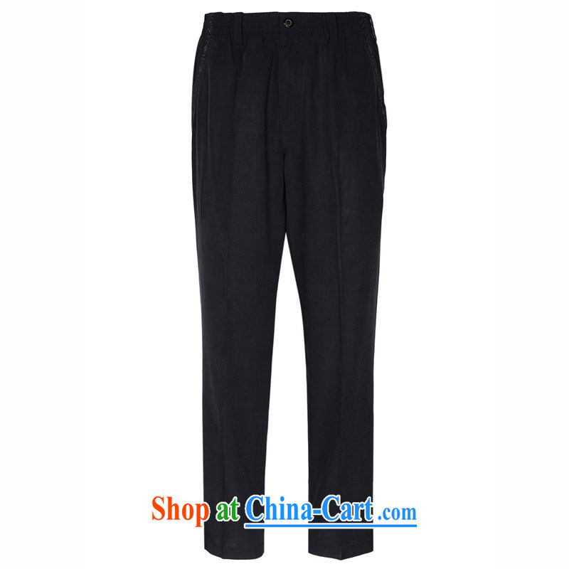 To Kowloon Chinese summer 2015 New China wind men's day, leisure trousers 15,304 - 1 dark blue 48 yards dark blue 54