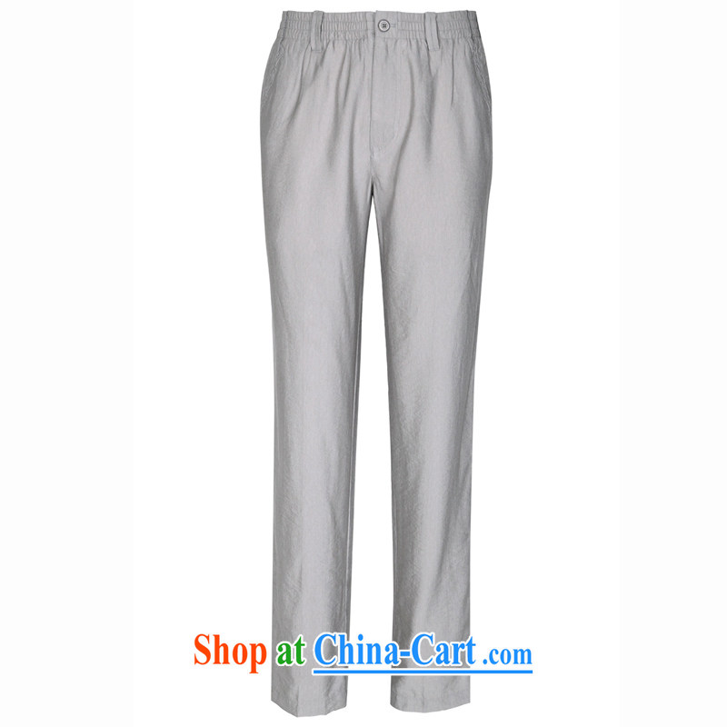 To Kowloon Tong on summer China wind men's cool breathable pant 14,530 light gray 48, light gray 54