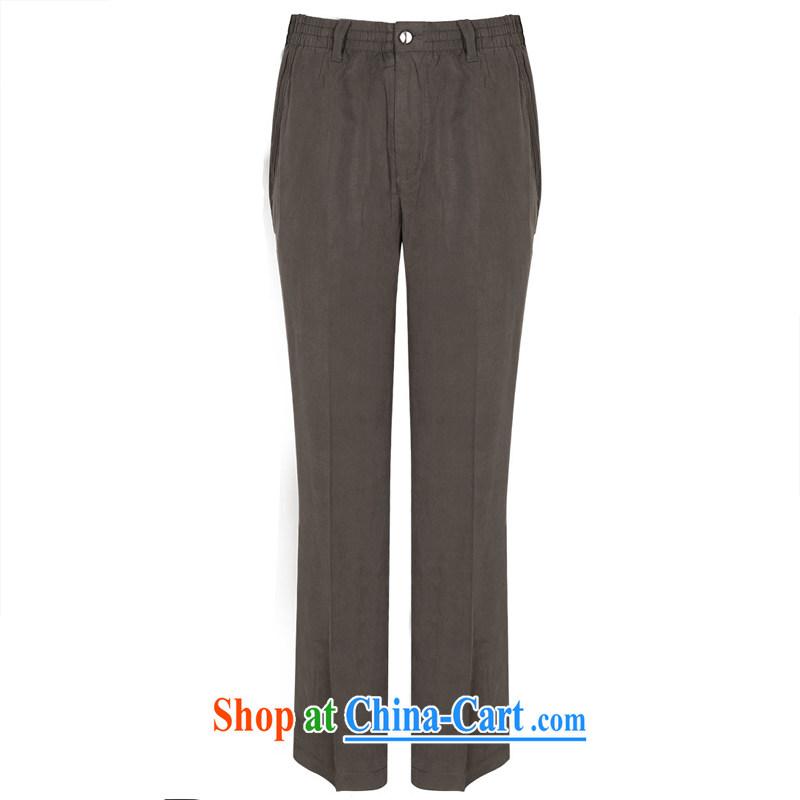 To Kowloon Chinese summer 2015 New China wind men's day, leisure trousers 15,006 dark gray 48, dark gray 50
