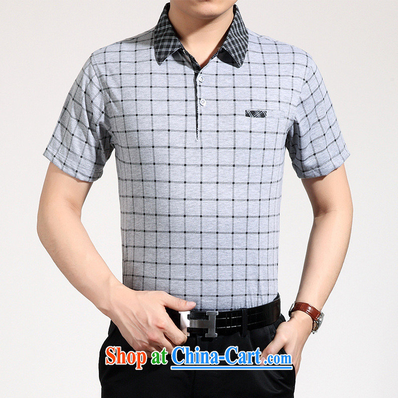 Health Concerns * summer middle-aged men's leisure short-sleeved T-shirt lapel middle-aged and older men's summer father replace white 3XL, A . J . BB, shopping on the Internet