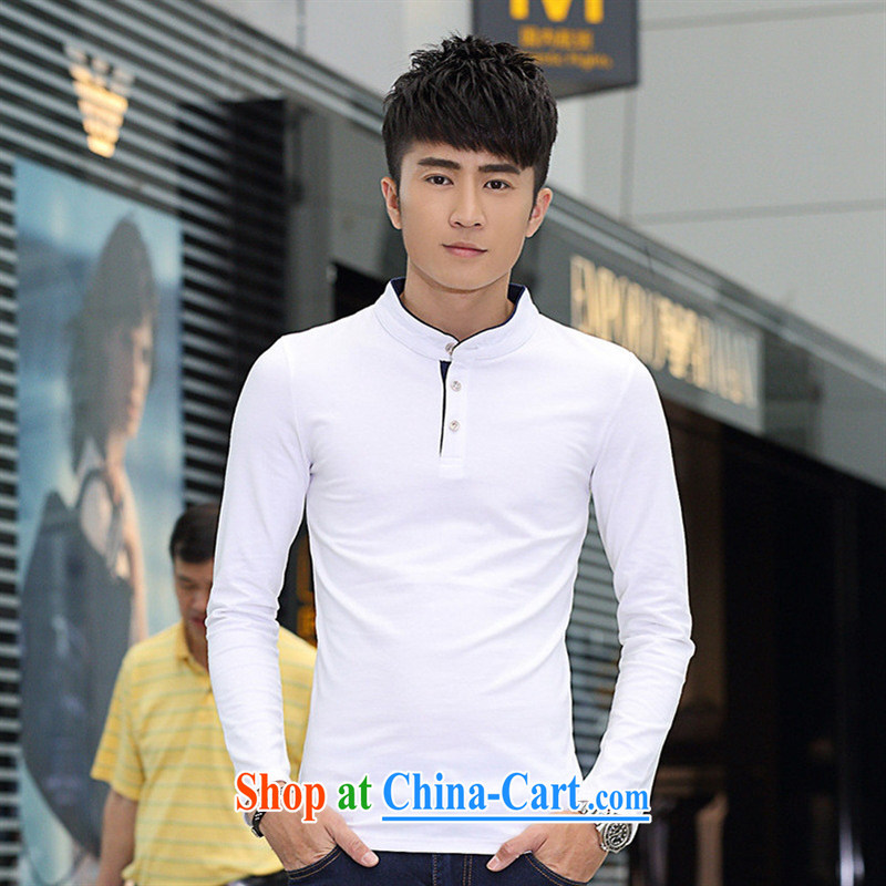 Health Concerns * autumn New Men's long-sleeved shirt T men's leisure trends and free black XXXL, A . J . BB, shopping on the Internet
