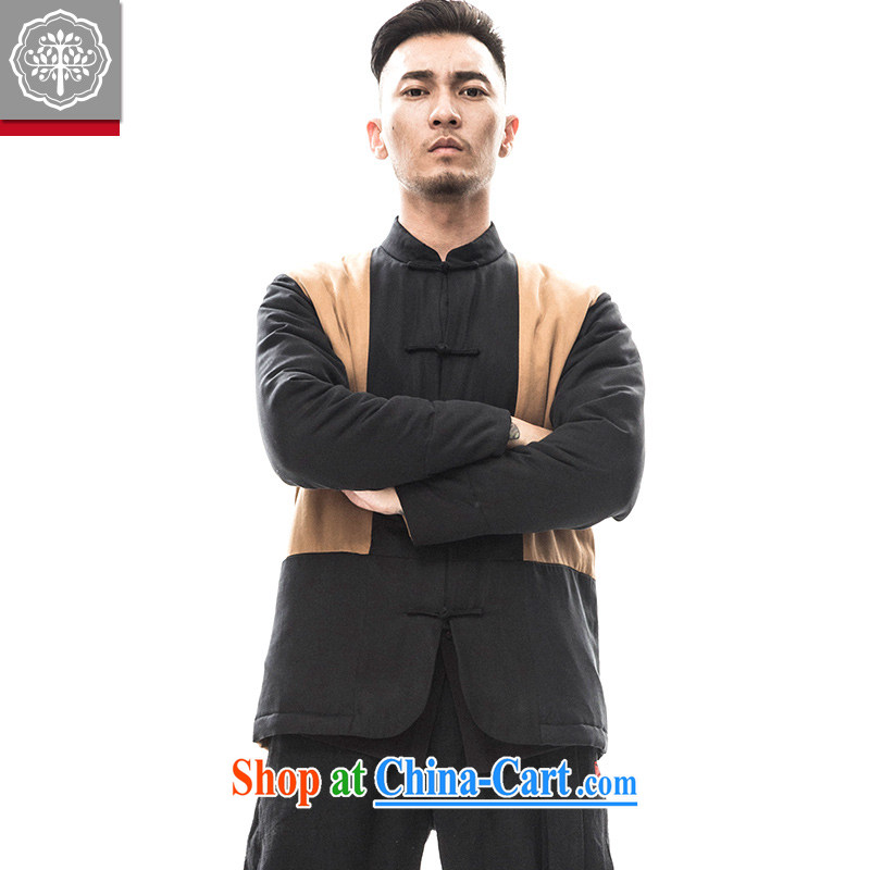 Pre-sale and tree 2015 new Chinese Ethnic Wind Chinese men's long-sleeved jacket China Tang is improved Han-hyun_rattan Wong 185_XXL
