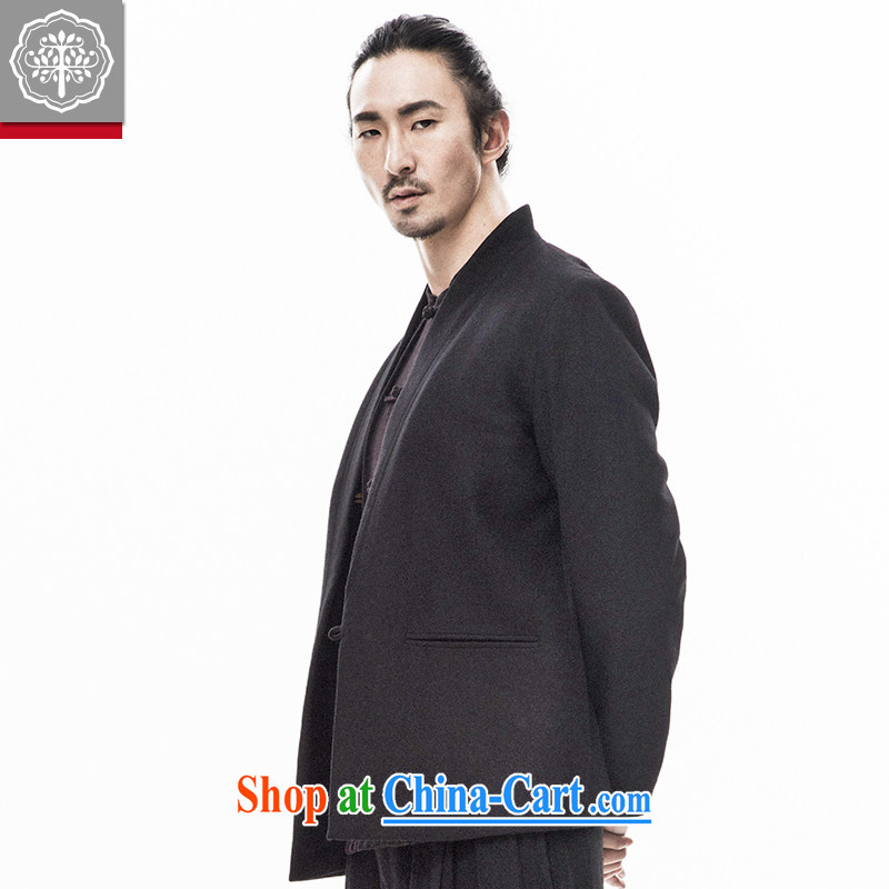 Pre-sale and tree fall 2015 New China wind Han-Chinese men and Ethnic Wind Chinese long-sleeved suit wool jacket Hyun-color 185_XXL