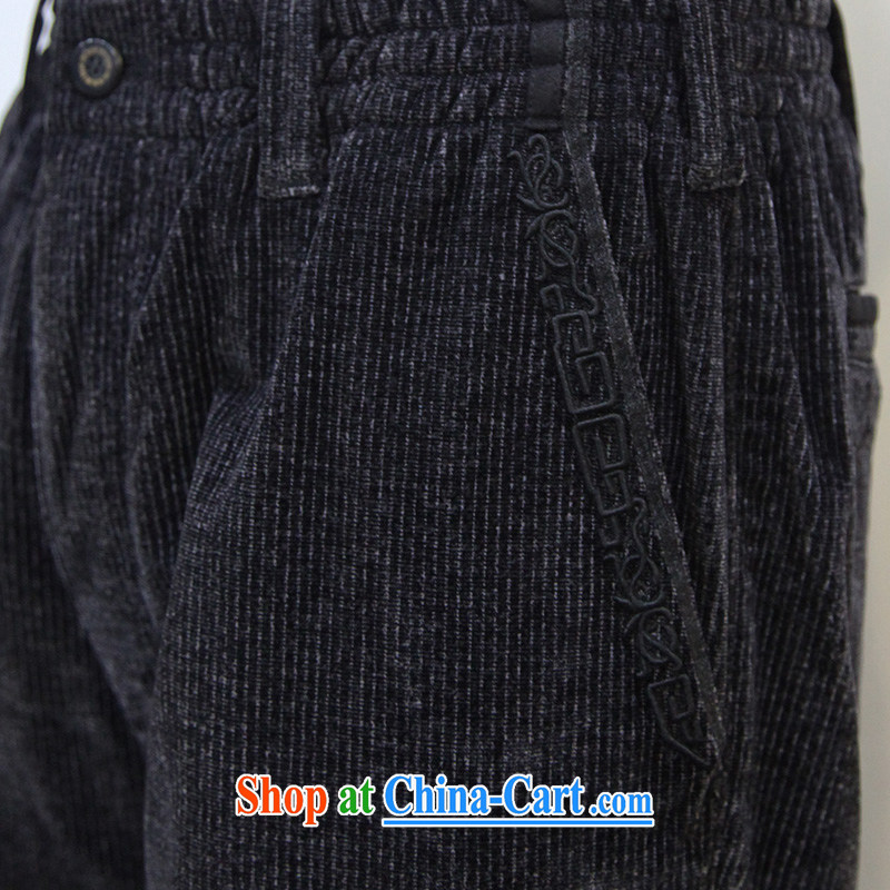 To Kowloon Tong with autumn, China wind men's casual pants 14,325 black 48, black 52, to lung, shopping on the Internet