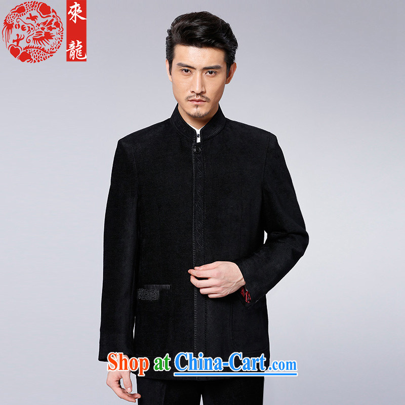 To Kowloon Tong with autumn and winter, China wind men's jackets 88,058 black 48, black 52