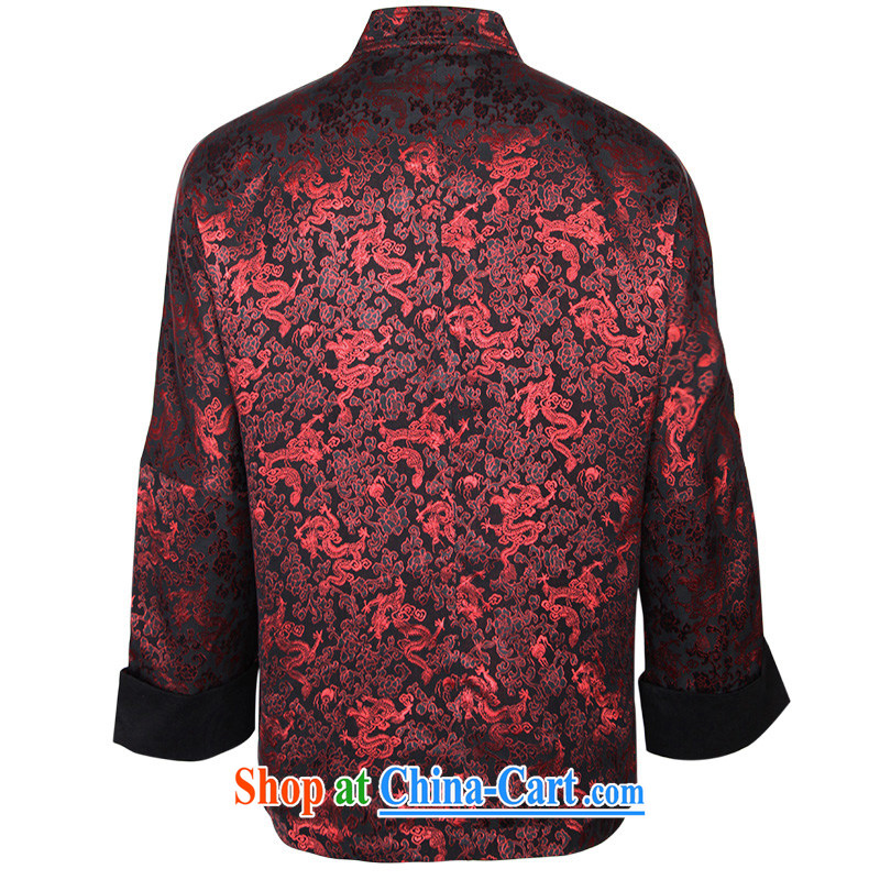 To Kowloon Tong with autumn and winter, China wind men's Silk jacquard jacket 14,374 red 48, red 54, to lung, shopping on the Internet