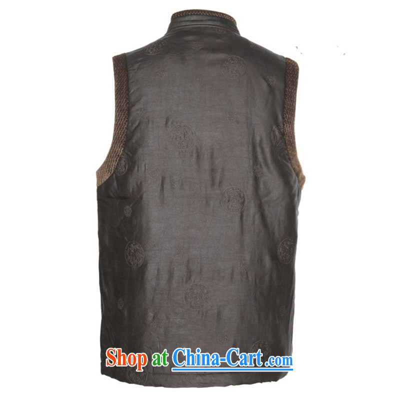 To Kowloon Tong with autumn and winter, China wind men's fragrance cloud yarn-snap vest the folder 11,021 - 3 deep coffee color 48 yards deep coffee color 52 to Kowloon, and shopping on the Internet