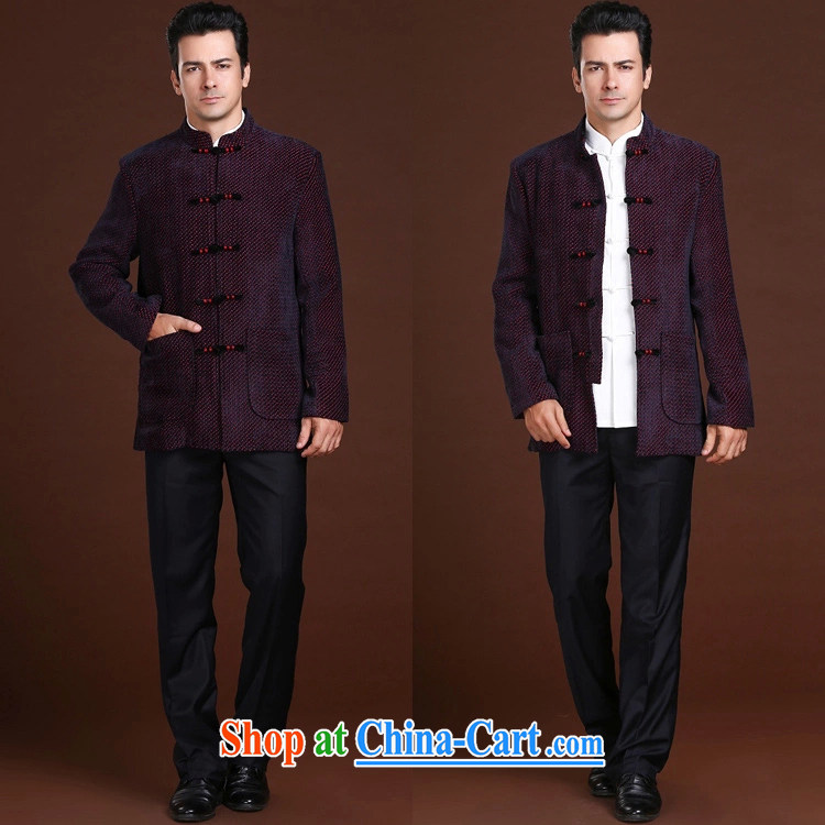 FZOG stamp the casual simplicity and loose long-sleeved middle-aged men's dot Tang with comfortable, breathable red XXL pictures, price, brand platters! Elections are good character, the national distribution, so why buy now enjoy more preferential! Health
