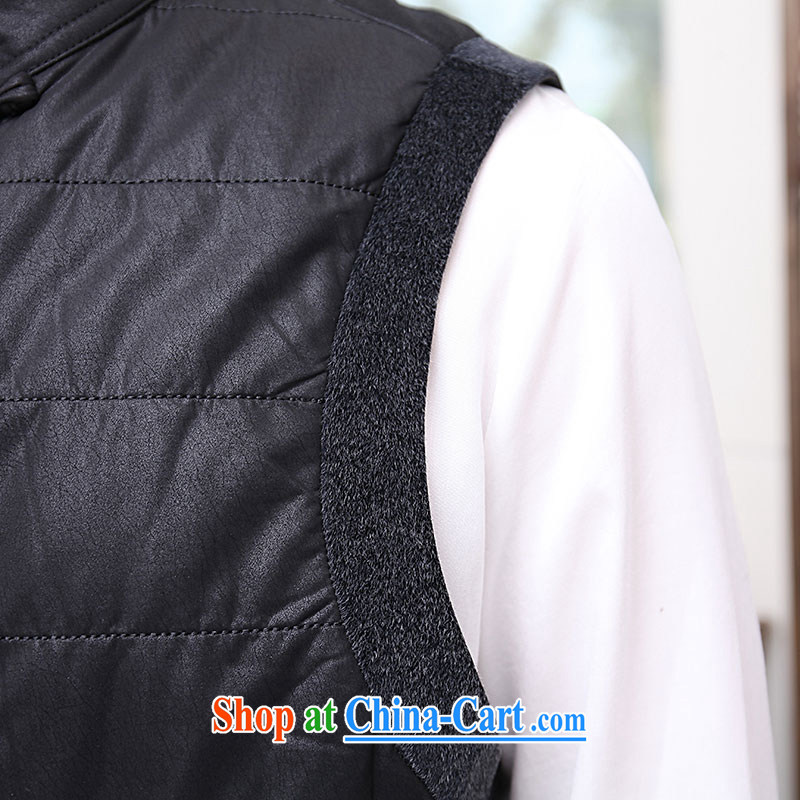 To Kowloon Tong with autumn and winter, China wind men, shoulder vest 13,889 black 48, black 52, to lung, online shopping