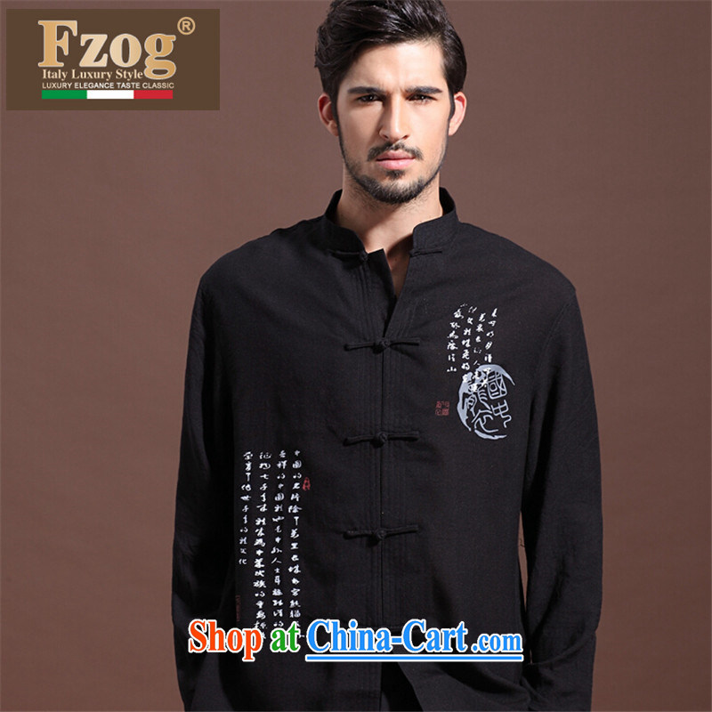 FZOG male from hot deal with three-dimensional trim middle-aged men's lax Tang is a solid color coating the breathability and comfort black XXL