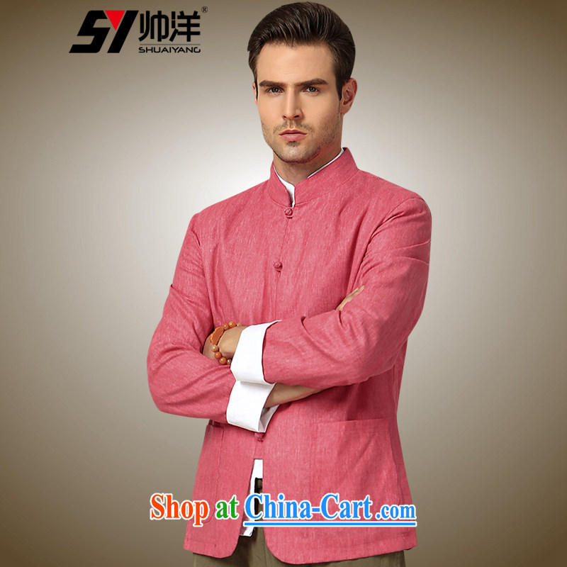 cool ocean 2015 autumn and the New Man Tang jackets China wind up for Chinese jacket is withholding red 190