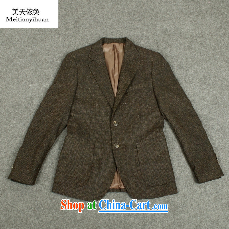 2015 New Men's Korean version Houston and cultivating small suit package the groom wedding dress men's suits coffee XXL