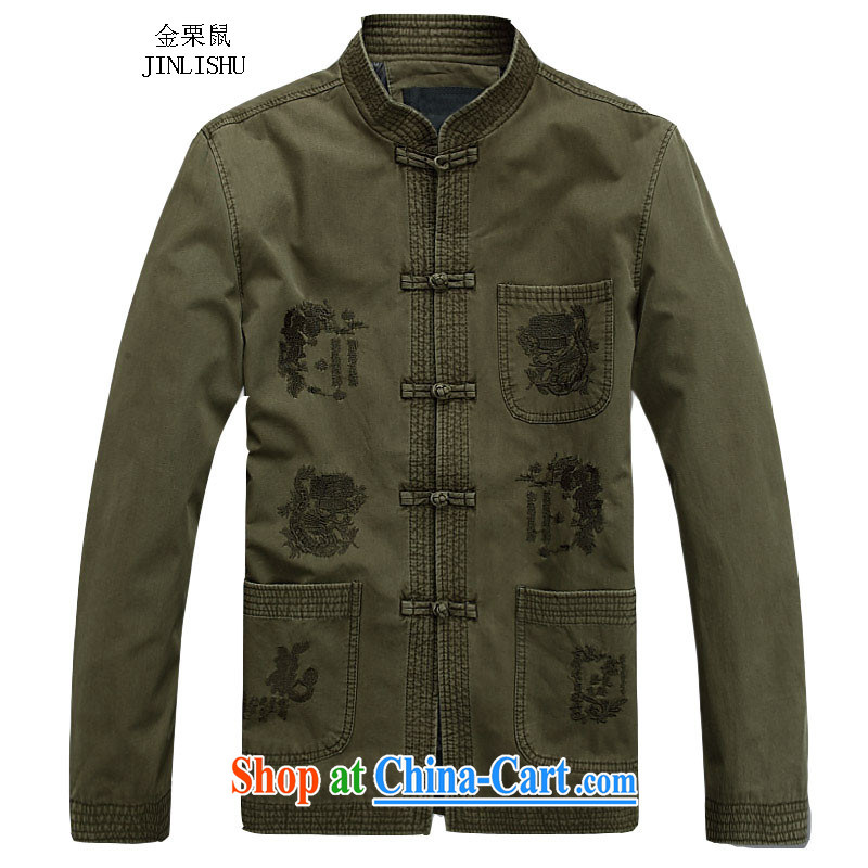 The chestnut mouse New Men Tang jackets autumn and winter clothing long-sleeved T-shirt Chinese style, and for Chinese national costumes, older festive gift No. 1 color XXXL_190
