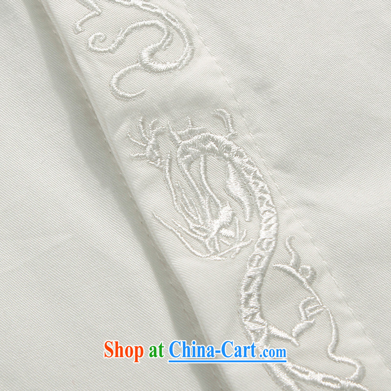 Products HANNIZI New Classic China wind up for the tie men's Tang with long-sleeved white thin cotton shirts the T-shirt white 190, Korea, (hannizi), shopping on the Internet