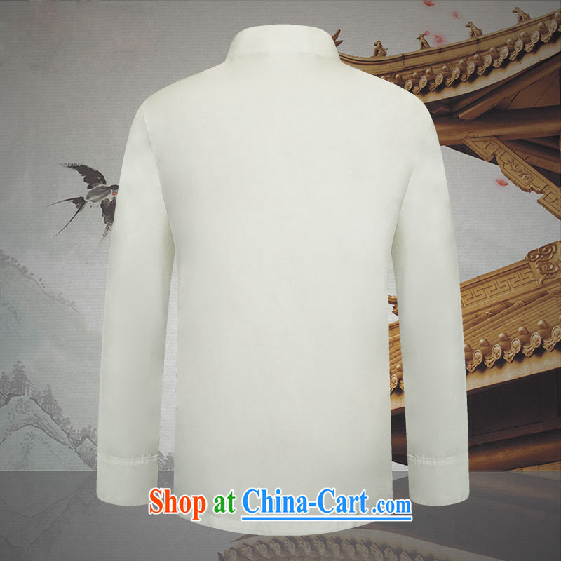 Products HUNNZ New Classic China wind up for the charge-back men Tang with long-sleeved white thin cotton shirts the T-shirt white 190, HUNNZ, shopping on the Internet