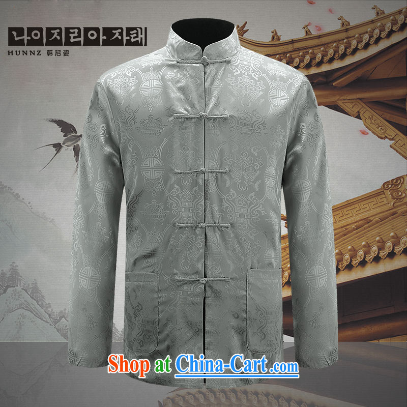 Products HANNIZI New Men's two-sided Tang replace uniforms costumes and negative to wear spring new smock men and light gray 190